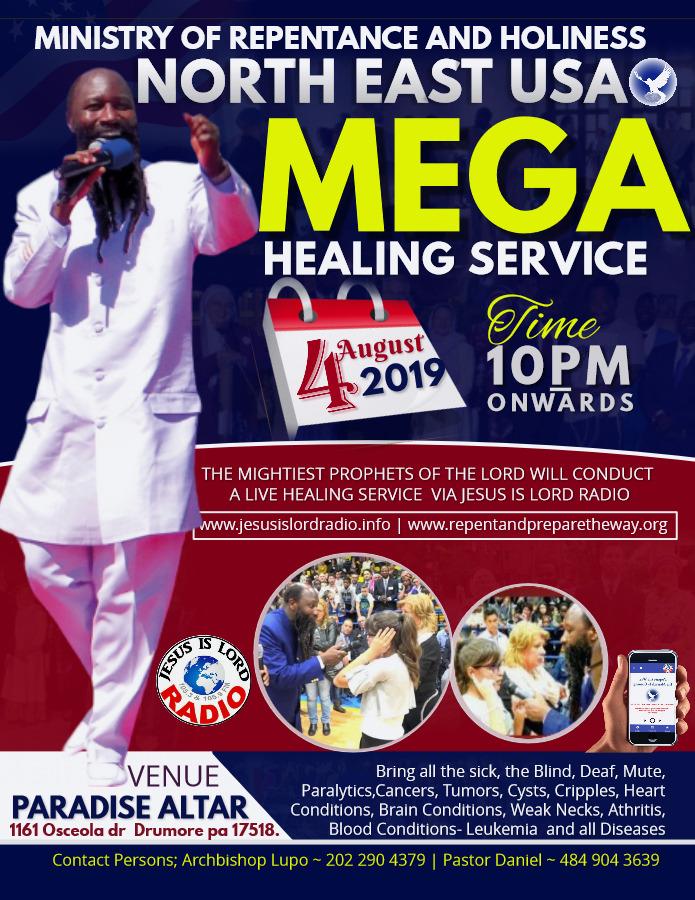 Global Healing Service – Repent USA